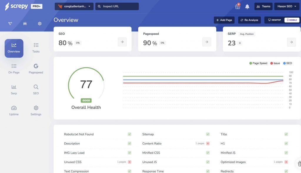 Screpy - công cụ Audit website